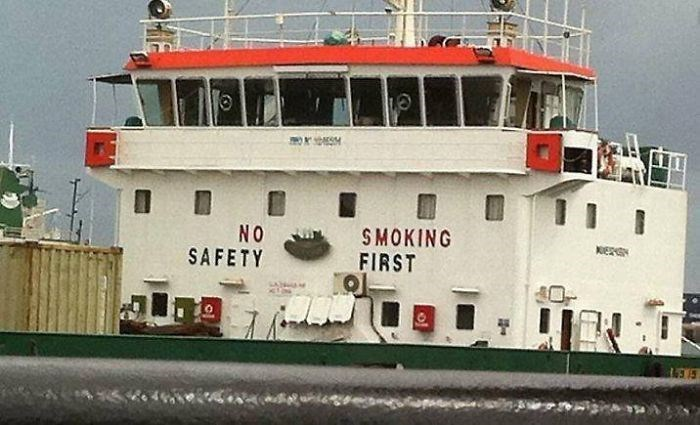 Water transportation - SMOKING FIRST NO SAFETY