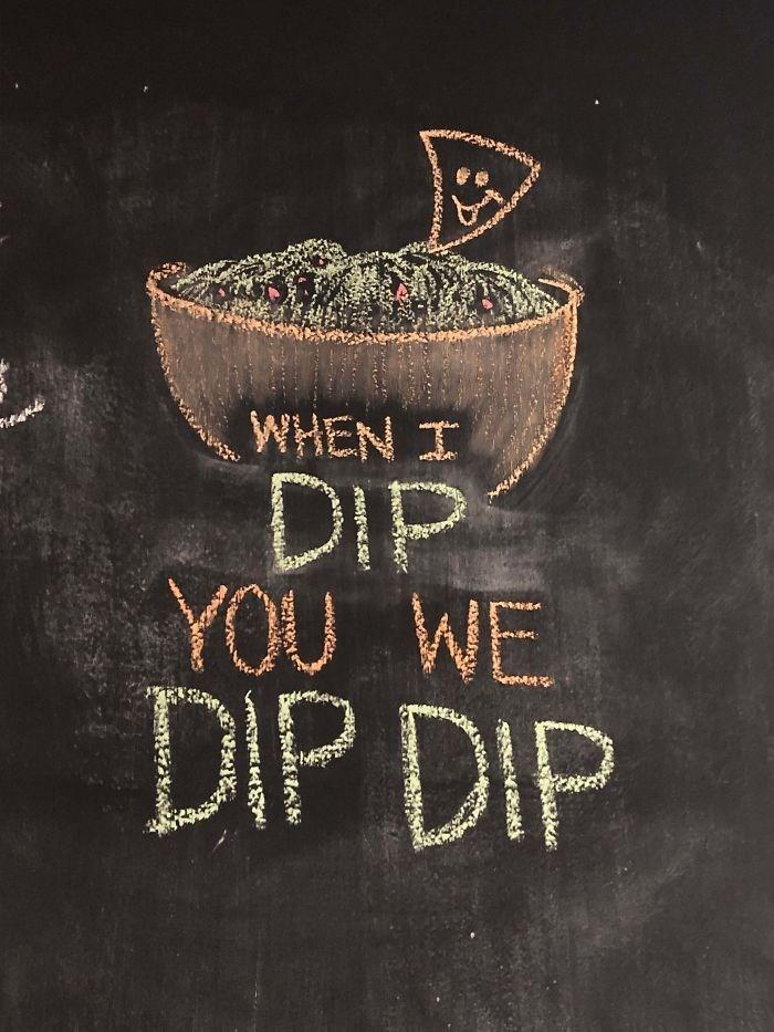 Text - WHEN I DIP YOU WE DIP DIP