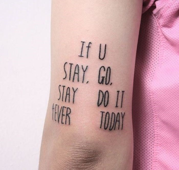 Font - If U STAY. GO STAY DO II VER TODAY