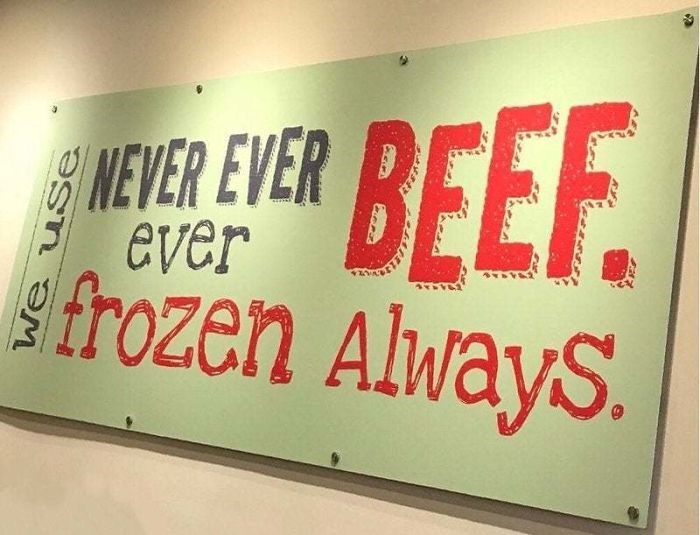 Font - BEEF frozen AlwayS. NEVER EVER ever