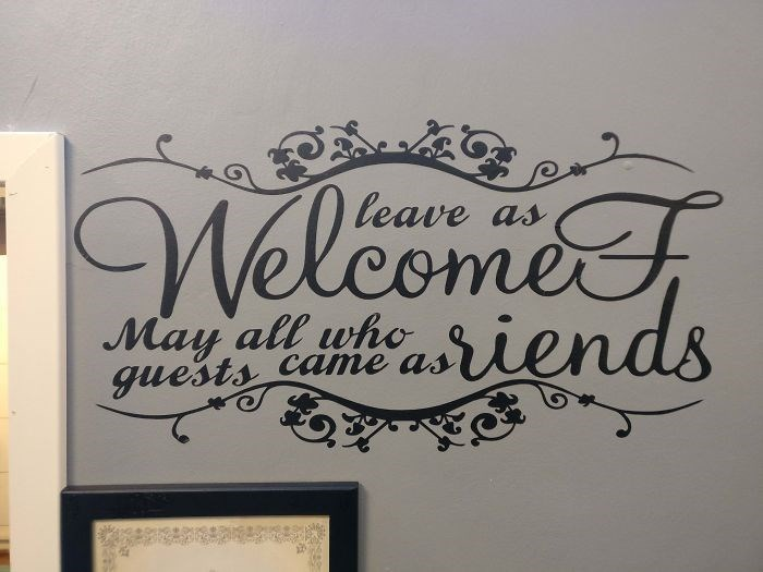 Font - Welcomet srien leave as May all who guests came as