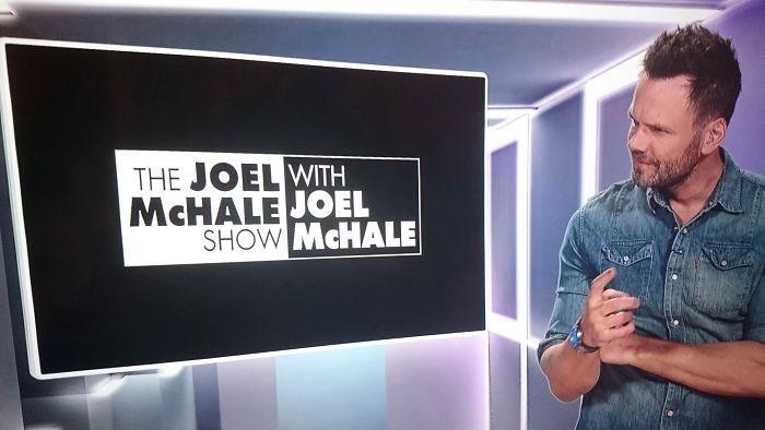 Font - THE JOEL WITH MCHALE JOEL SHOW MCHALE