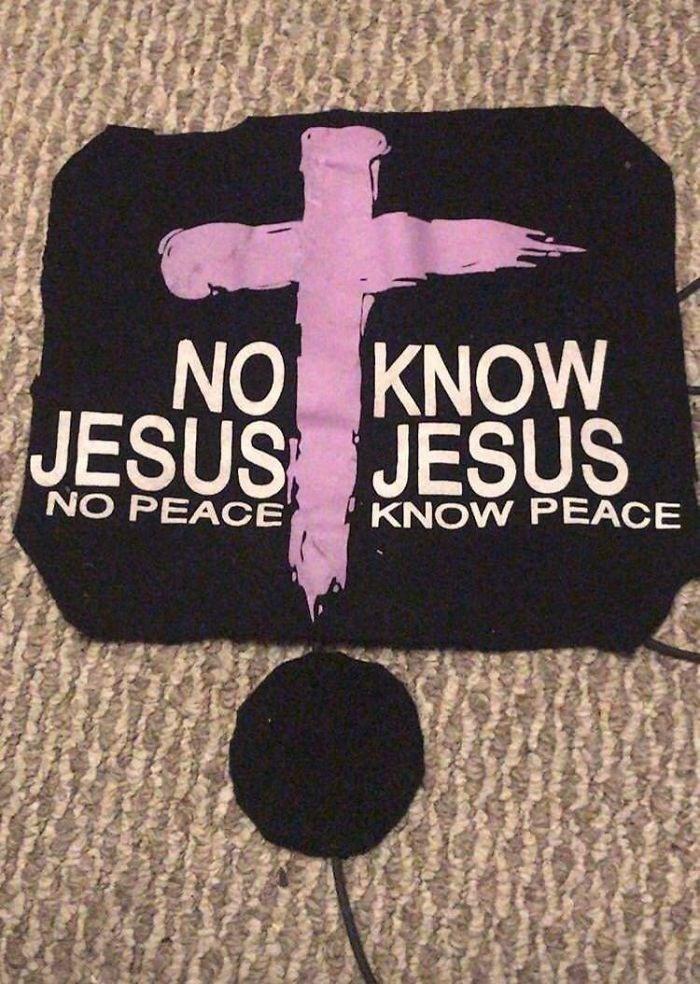 Text - NO KNOW JESUS JESUS NO PEACE KNOW PEACE