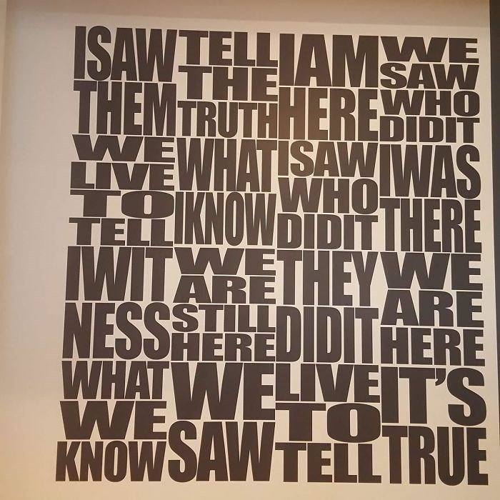 Font - ISAWTELLIAMW THEMTRUTHHEREHY THE WHO DIDIT YWEWHATISAWWAS LIVE TO TELL WHO LKNOWDIDITTHERE WITHKETHEYWE NESSAEREDIDITHERE WHAT WELLYEIT'S ARE ARE LL WE KNOWSAW TELL IRU TO