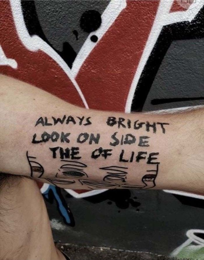 Arm - ALWAYS BRIGHT LOOK ON SIDE THE OF LIFE