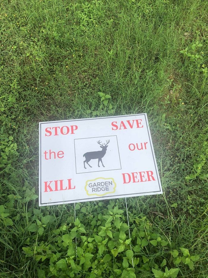 Green - STOP SAVE the our DEER KILL GARDEN RIDGE