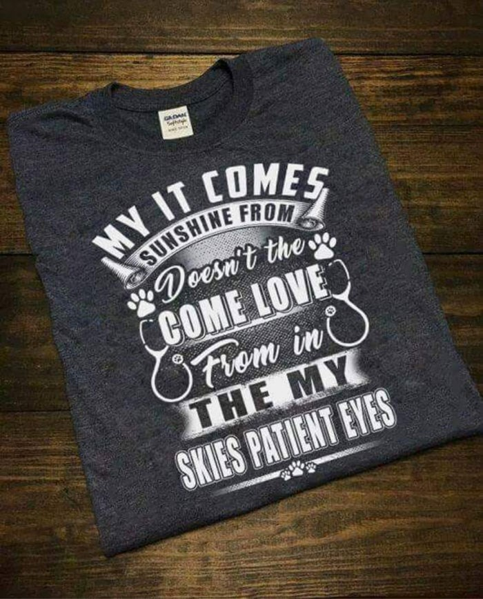 T-shirt - GADAN MY IT COMES Doesnit the COME LOVE Oriem in ΤHE MΥ SKIES PATIENT EYES
