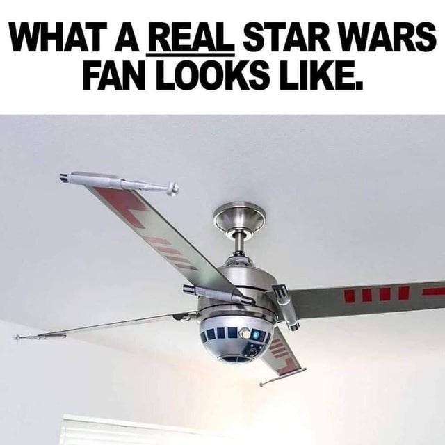 Ceiling fan - WHAT A REAL STAR WARS FAN LOOKS LIKE.