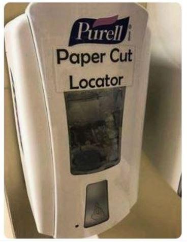 Technology - Purell Paper Cut Locator