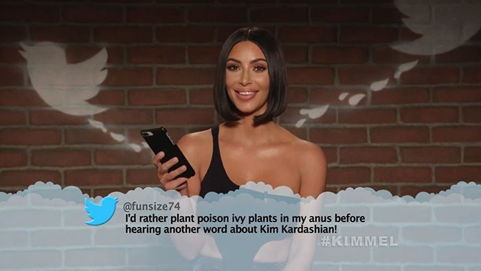 Photography - @funsize74 I'd rather plant poison ivy plants in my anus before hearing another word about Kim Kardashian! #KIMMEL