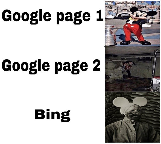 Text - Google page 1 Google page 2 Bing