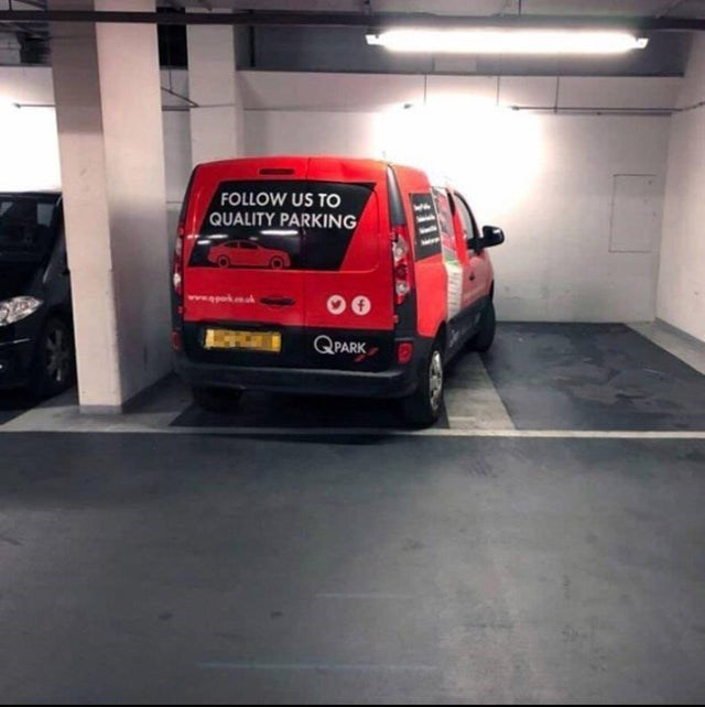 Land vehicle - FOLLOW US TO QUALITY PARKING QPARK