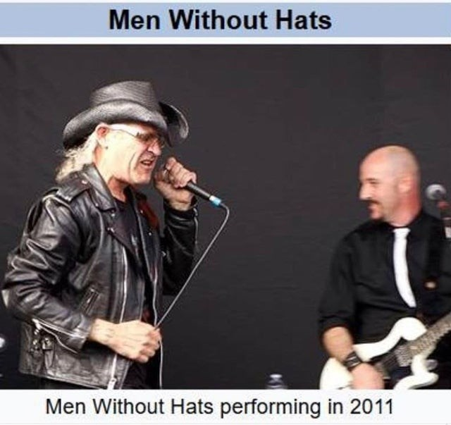 Music - Men Without Hats Men Without Hats performing in 2011