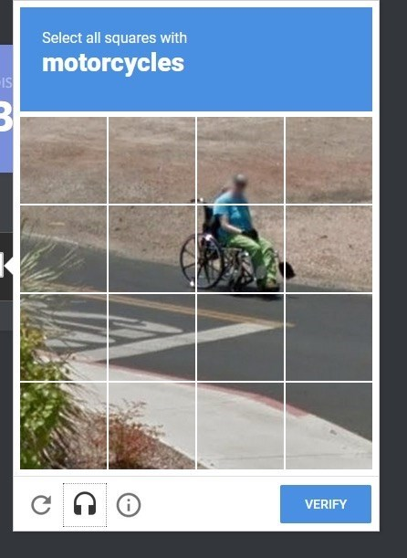 Lane - Select all squares with motorcycles IS VERIFY