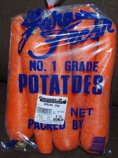 Food - NO. 1 GRADE POTATDEE Lancaster P FreshFrt SPECIAL (Kg) NET 164 BY PAURE