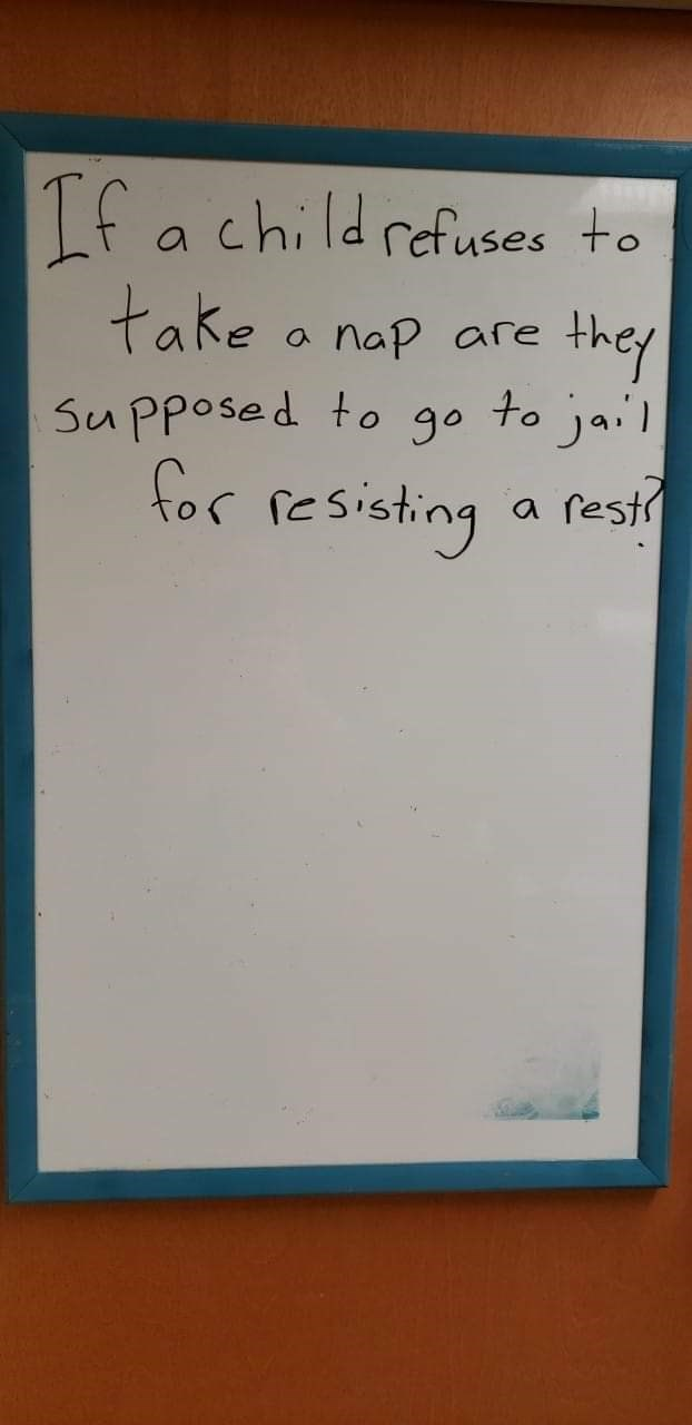 Text - Lfa childrafuses to take a nap are they SuPposed to go to jai tor resisting a resi