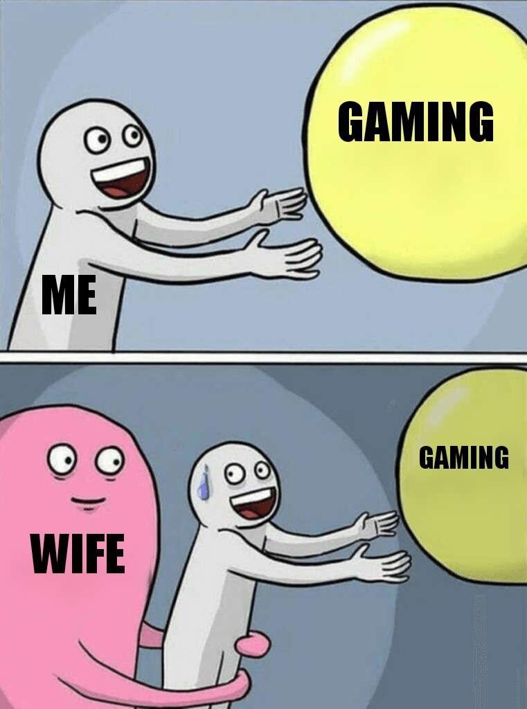 Cartoon - GAMING ME GAMING WIFE