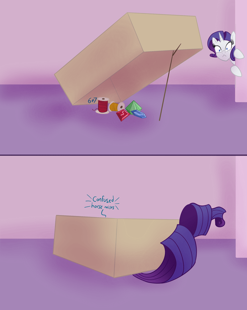 rarity sixes and sevens acting like animals - 9369225728