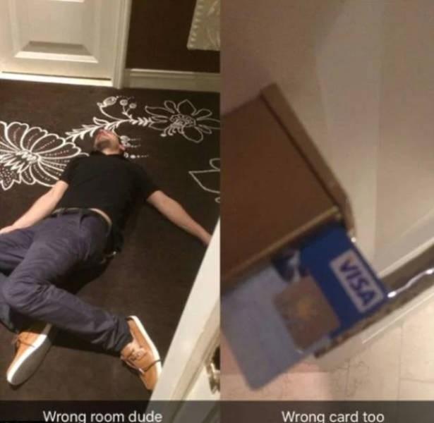 Floor - Wrong room dude Wrong card too VISA