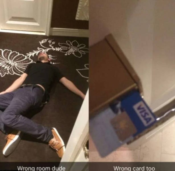Floor - Wrong room dude Wrong card too VISA