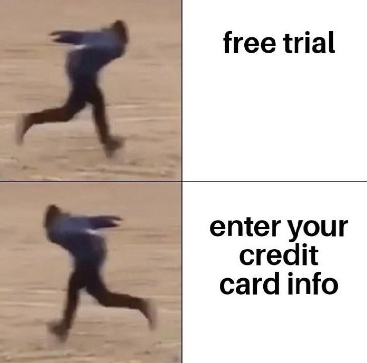 Human - free trial enter your credit card info