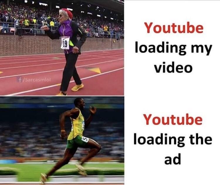 Athletics - Youtube 19 loading my video f/Sarcasmlol Youtube loading the ad