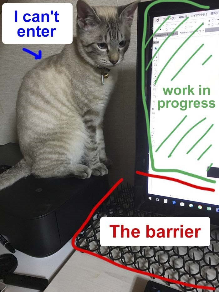 Cat - (L) can't enter A Id rd lahanndd10s work in progress The barrier Esc LT