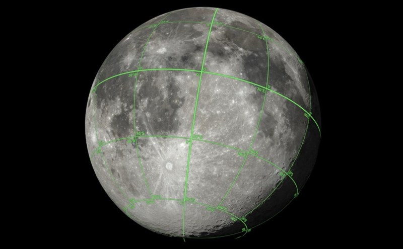 picture of moon 3d sphere map