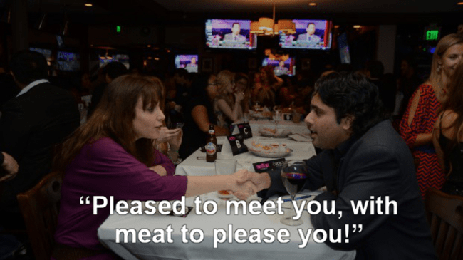 """Fun - """"Pleased to meet you, with meat to please you!"""""""