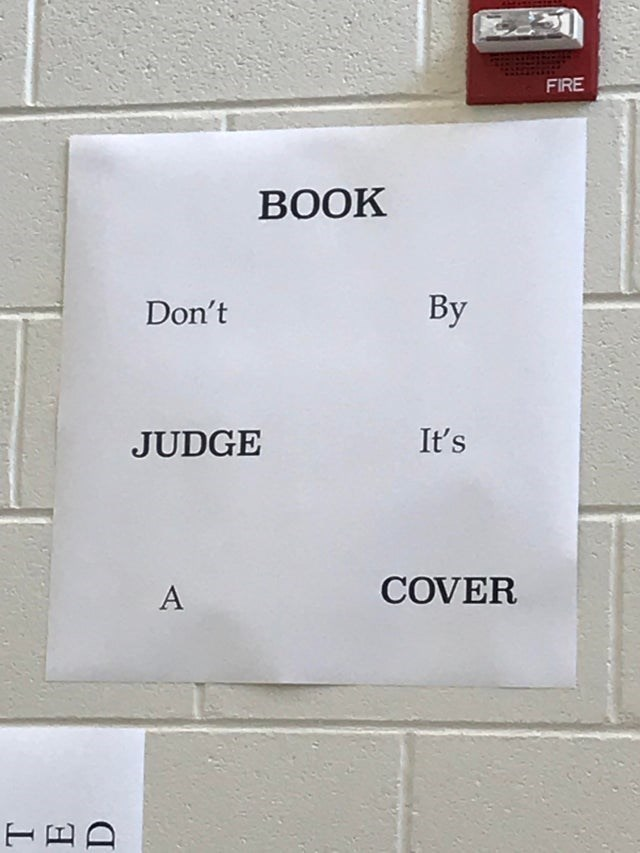 Text - FIRE BOOK By Don't It's JUDGE COVER A HED
