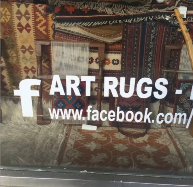 Text - ART RUGS www.facebook.com/ ాచి