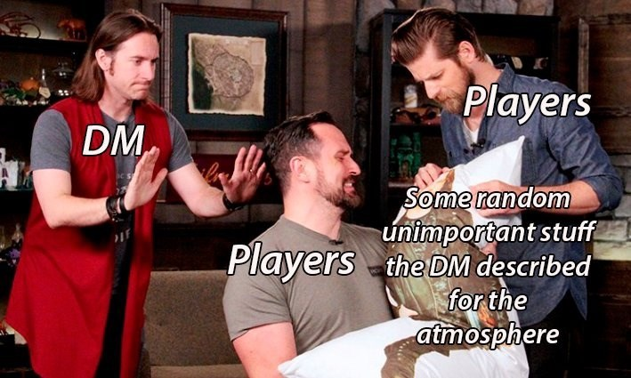 Product - Players DM Some random unimportant stuff Players the DM described for the atmosphere