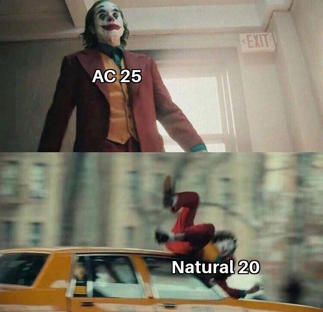 Fictional character - EXIT AC 25 Natural 20