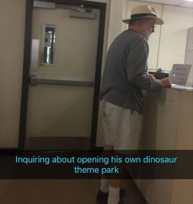 Property - Inquiring about opening his own dinosaur theme park