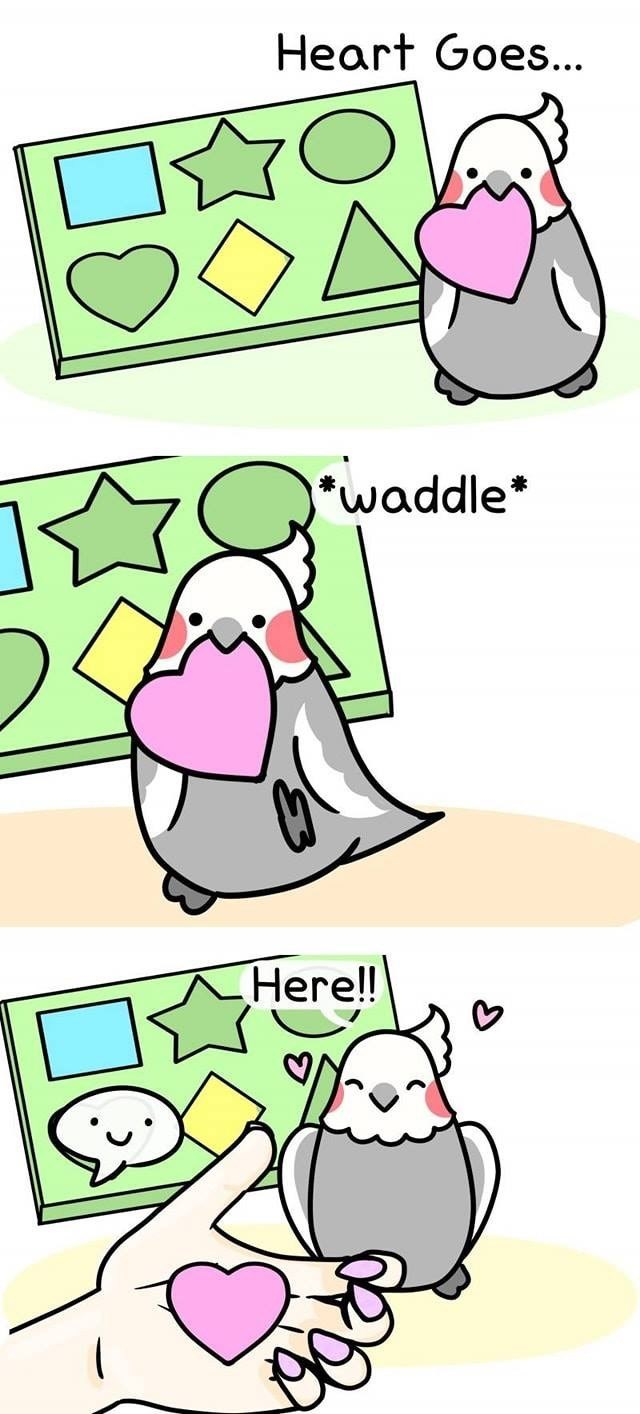 Cartoon - Heart Goes... *waddle Here!!
