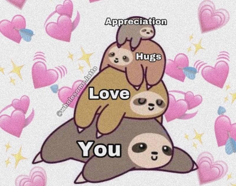 Cartoon - Appreciation Hugs Love You @wholesome.latte