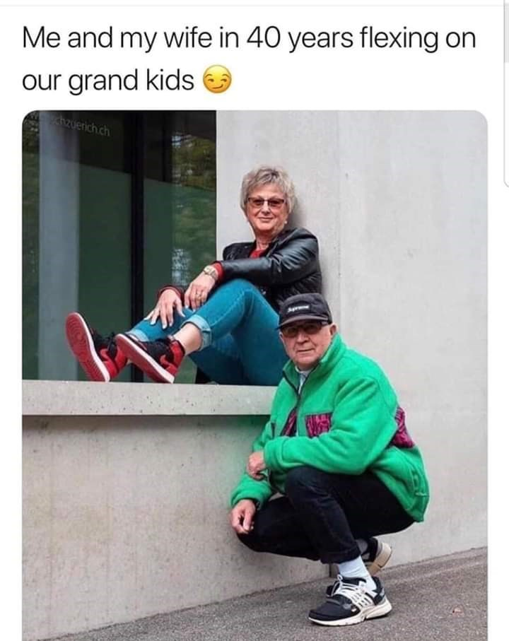 Outerwear - Me and my wife in 40 years flexing on our grand kids hzuerich ch