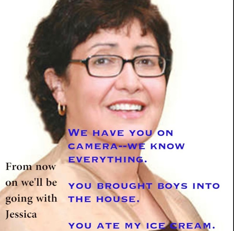 Hair - WE HAVE YOU ON CAMERA-WE KNOW EVERYTHING. From now on we'll be YOU BROUGHT BOYS INTO going with THE HOUSE. Jessica YOU ATE MY ICE REAM.