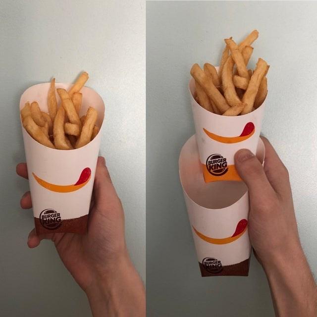 French fries - BURGER KING BURGER G BURGEE