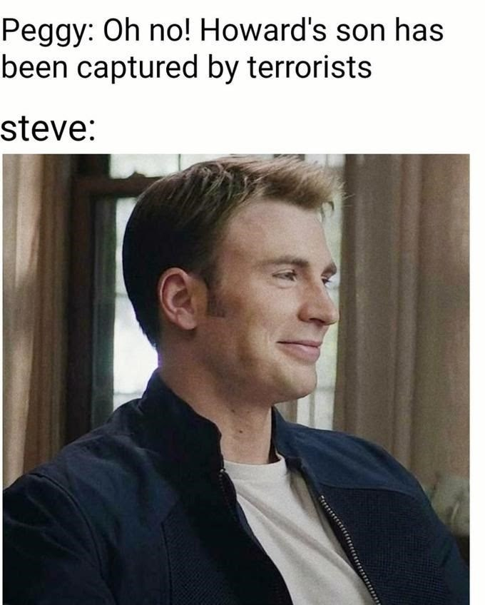 Hair - Peggy: Oh no! Howard's son has been captured by terrorists steve:
