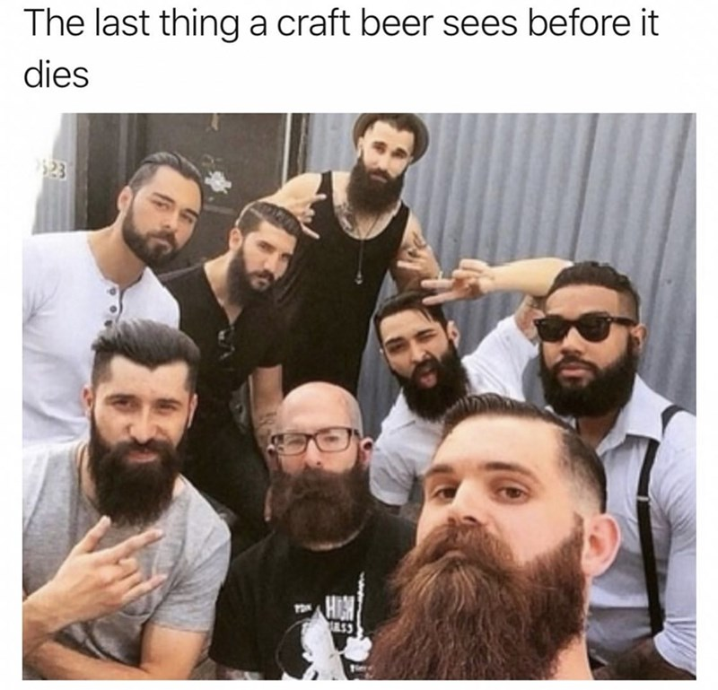 Facial hair - The last thing a craft beer sees before it dies $23 e