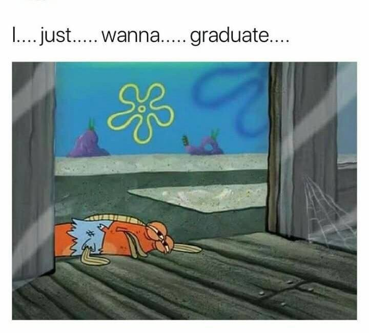 Cartoon - .. just.... wanna....graduate....