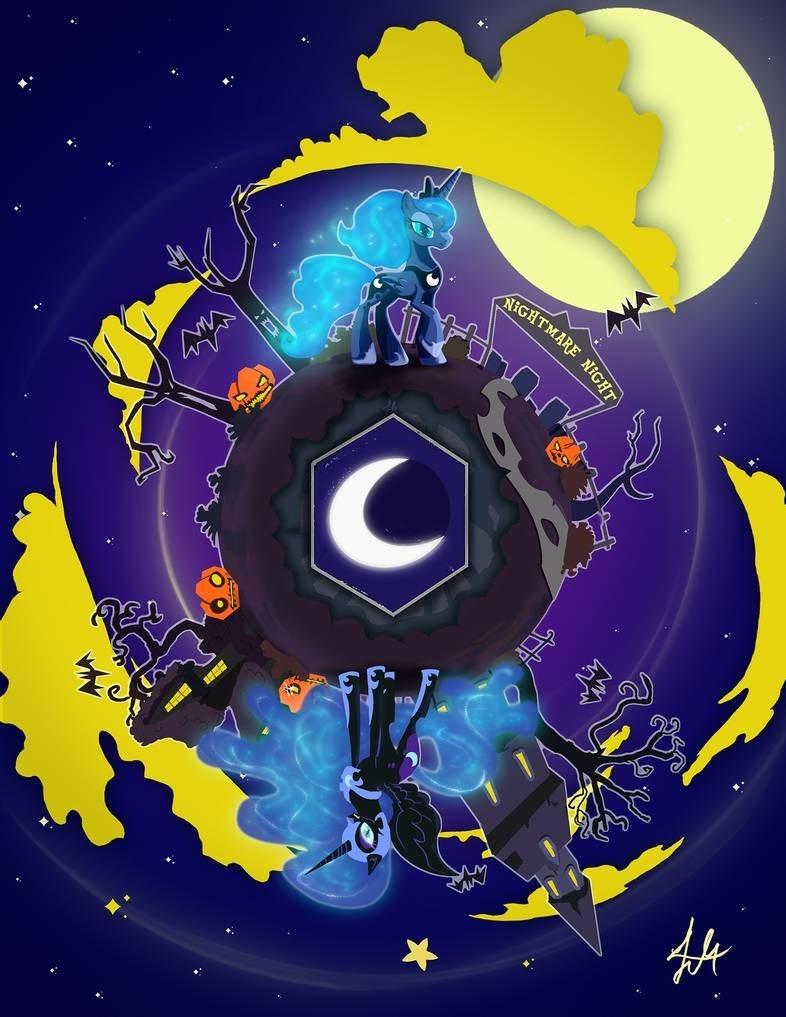 lmkyouki nightmare moon halloween nightmare night princess luna - 9371136512