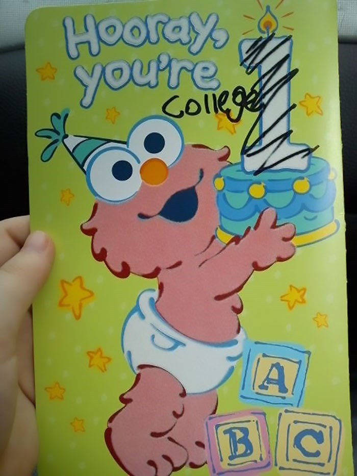 Cartoon - Hooray you're ges Collk A 13 B C