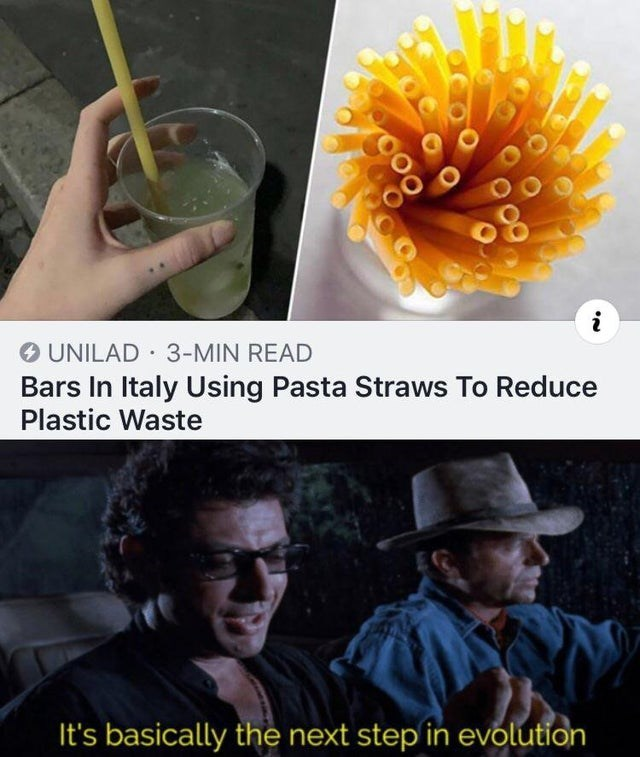 Junk food - UNILAD 3-MIN READ Bars In Italy Using Pasta Straws To Reduce Plastic Waste It's basically the next step in evolution