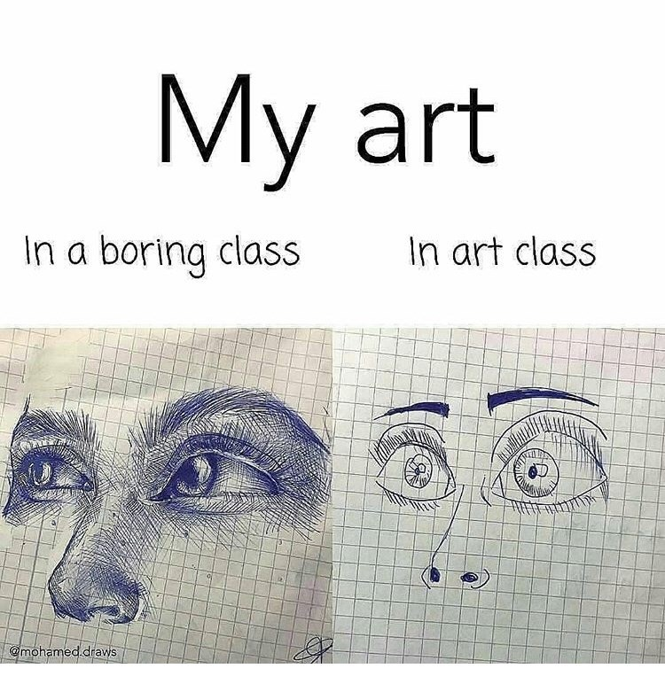 Face - My art In art class In a boring class @mohamed.draws