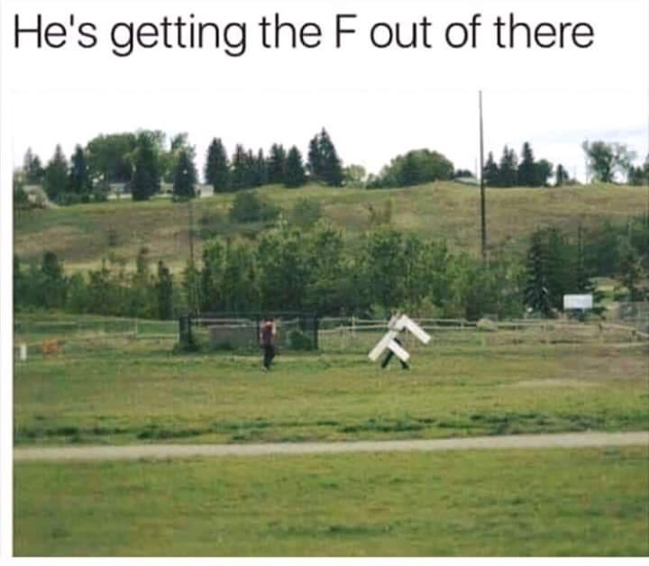 Pasture - He's getting the F out of there