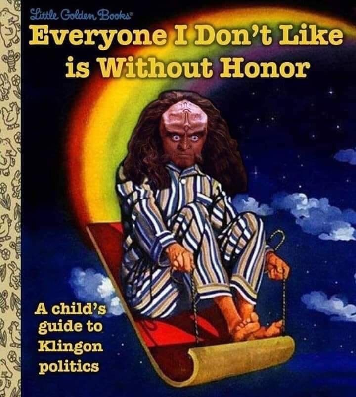 Album cover - Slittle Golden Books Everyone I Don't Like is Without Honor A child's guide to Klingon politics
