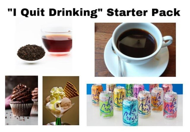 """Product - """"I Quit Drinking"""" Starter Pack Cocat Liey o"""