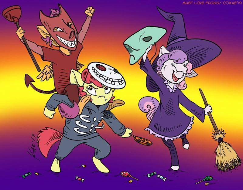 kae mantis halloween Sweetie Belle apple bloom Scootaloo - 9371652608